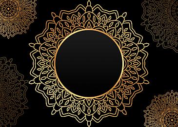 black gold mandala painting art background