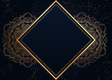 black gold wire frame mandala drawing background