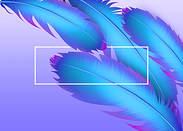 blue feather background decorative painting