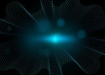 blue green gradient abstract light particle background