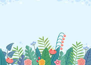 blue spring blooming flowers