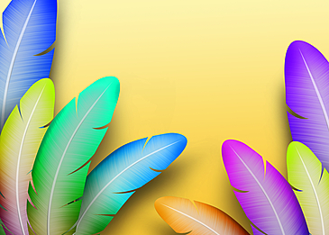 colorful feather background decorative painting