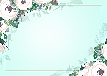 floral background border composed of spring flowers