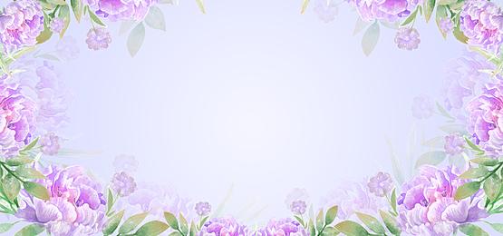 floral background illustration consisting of purple petals