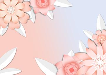gradient paper cut floral background