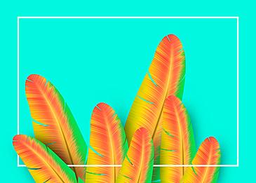 green theme beautiful yellow feather background