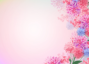 hand painted pink watercolor flower background illustration