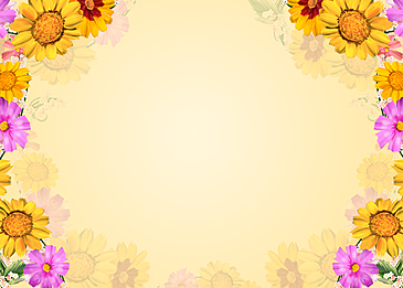 hand painted yellow sunflower watercolor floral background