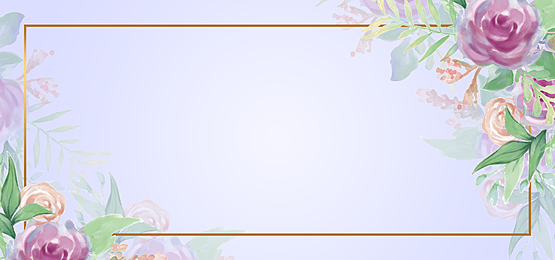 horizontal watercolor floral background pink roses