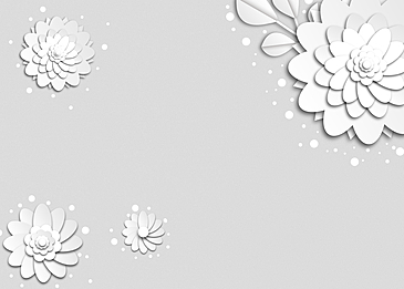 light colored flowers paper cut floral background