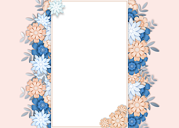 paper cut color floral background