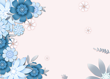 paper cut floral background colorful
