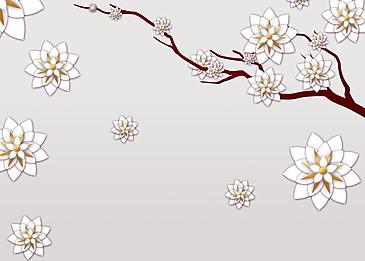 paper cut floral background light color