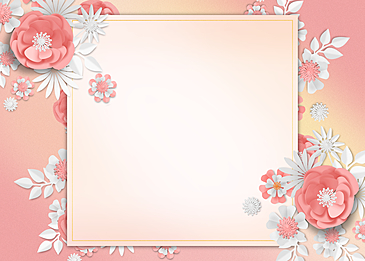 paper cut floral background pink