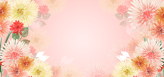 pink theme hand painted watercolor floral background