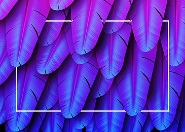 purple feather background decoration illustration