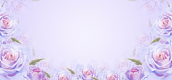 purple theme watercolor flower background illustration