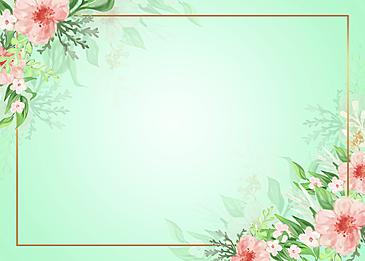 rose garden ornamented floral background frame