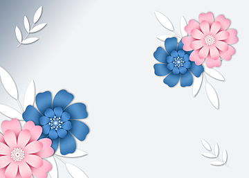 simple pink paper cut floral background
