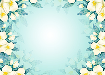 spring blooming flowers floral background painting