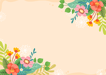 spring wildflowers floral background
