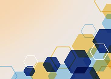 yellow blue hexagon business background