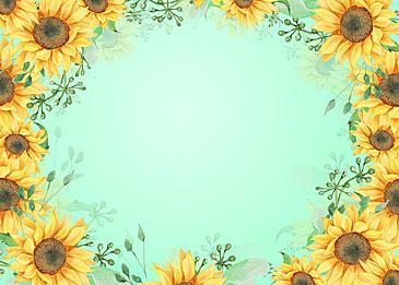 yellow sunflower flower background illustration