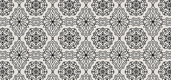 black islamic pattern tile background