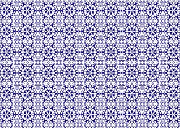 blue islamic tile pattern on white background
