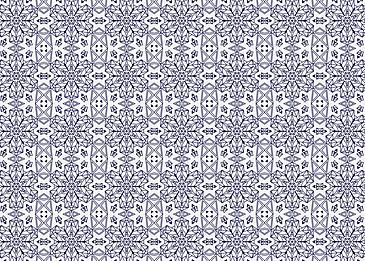 blue tiled islamic arabesque pattern on white background