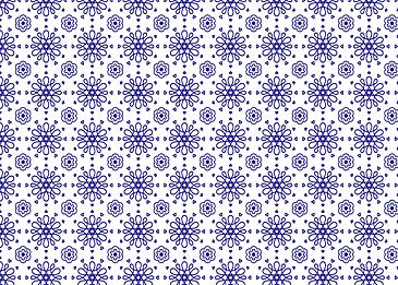 blue tiled islamic pattern on white background