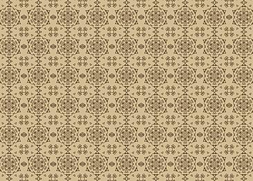 brown tiled islamic arabesque pattern background