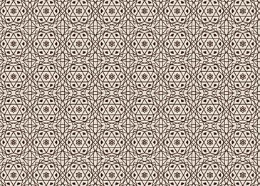 brown tiled islamic arabesque pattern on white background