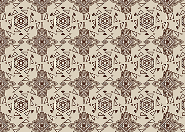 brown tiled islamic arabesque pattern yellow background