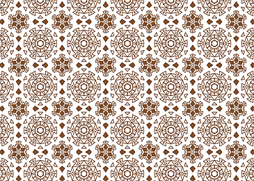 brown tiled islamic pattern on white background