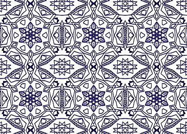 dark blue tiled islamic pattern on white background