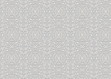 islamic white floral pattern on gray background