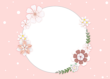 paper cut floral hollow background leaves pink