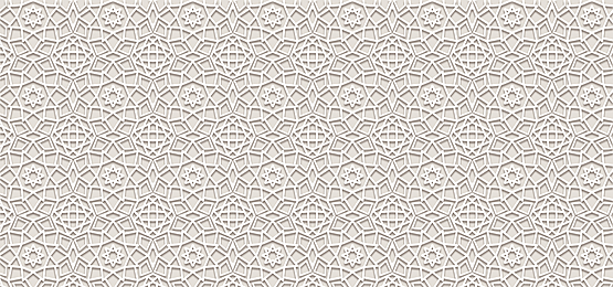 tile white islamic arabesque pattern light yellow background