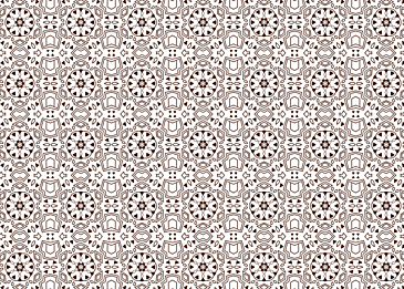tiled brown islamic pattern on white background