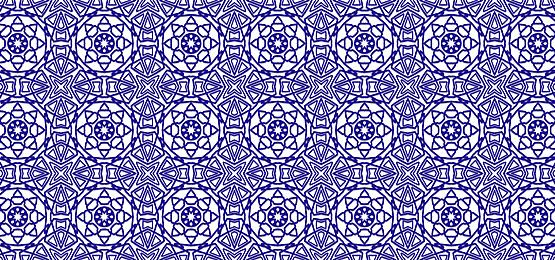 tiled islamic pattern blue background