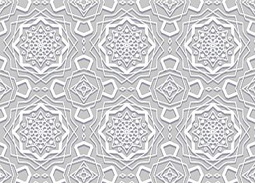 white islamic paper cut pattern on gray background