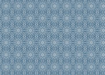 white islamic tile pattern on blue background
