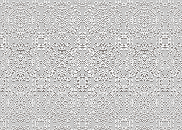 white shaded islamic pattern on gray background
