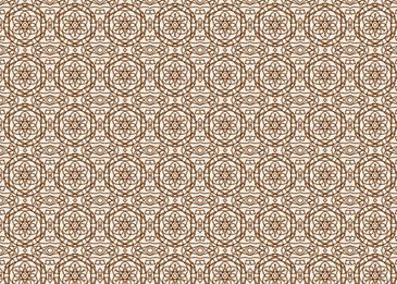 yellow tiled islamic arabesque pattern background