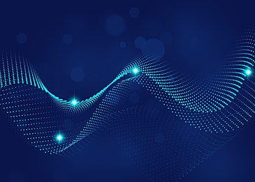 blue curve light abstract light particle background