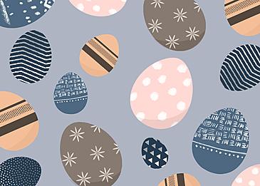 blue easter egg background