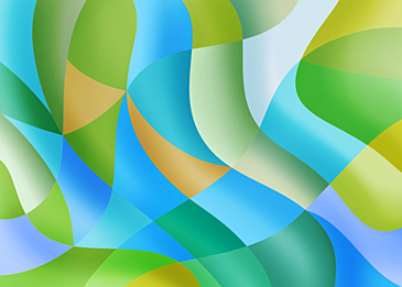 blue green abstract colorful curve background