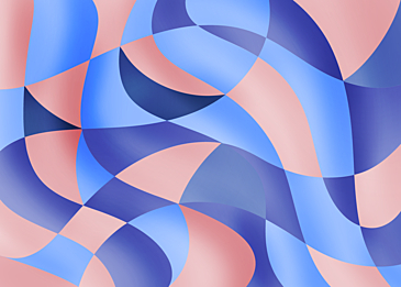 blue pink abstract color curve background