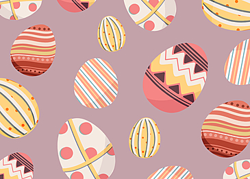 cute pink easter egg background